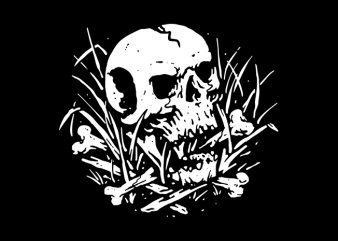 Dark Nature vector t-shirt design template