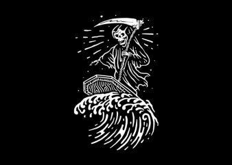 Grim Surfer t shirt design template