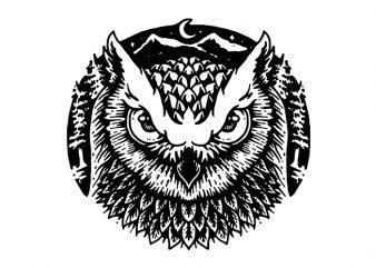 Owly t shirt design for purchase