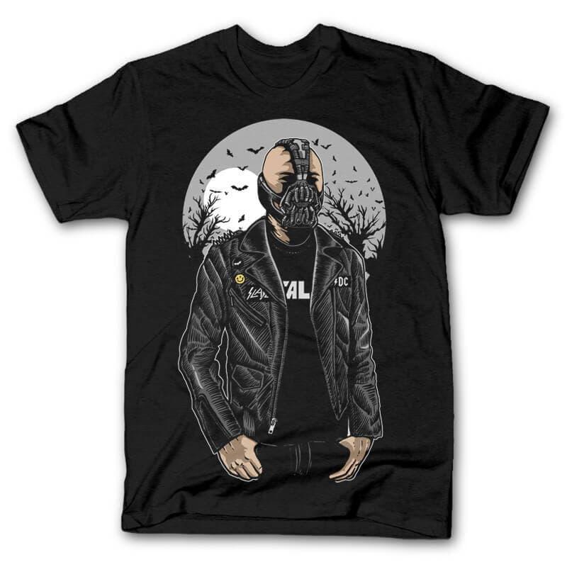 Bane Graphic t-shirt design t shirt designs for print on demand