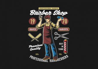 Barber Shop Graphic t-shirt design