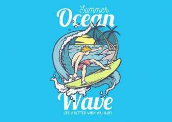 Beach Surfing Vector t-shirt design