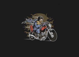 Bearded Biker Graphic t-shirt