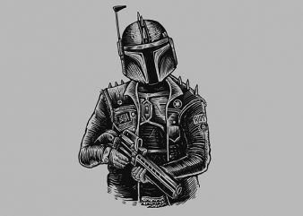 Boba Punk Vector t-shirt design