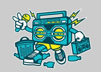 Boombox Vector t-shirt design