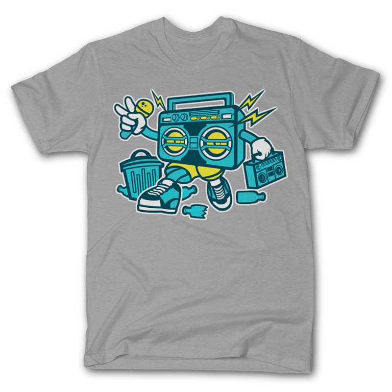 Boombox Vector t-shirt design commercial use t shirt designs