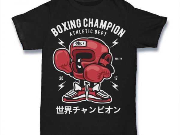 Boxing Champion Graphic t-shirt design