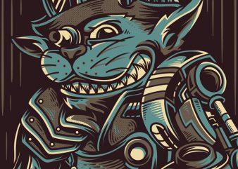 Wise Cat Vector T-shirt Design