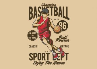 Champion Basketball Vector t-shirt design