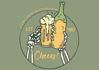 Cheers Vector t-shirt design