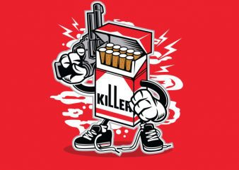 Cigarette Killer Graphic t-shirt design