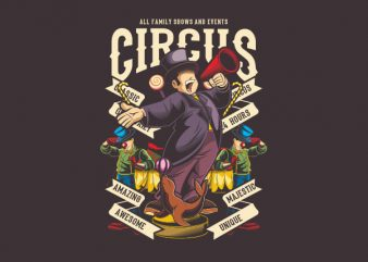 Circus Vector t-shirt design
