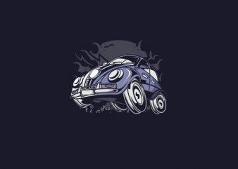 Classic Beetle Vector t-shirt design