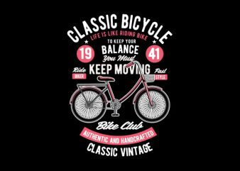 Classic Bicycle Svg Vector t-shirt design