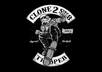 Clone 2 Sk8 Vector t-shirt design