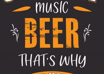 Country Music Beer print ready shirt design