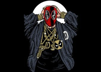 Deadpool Gangsta Vector t-shirt design