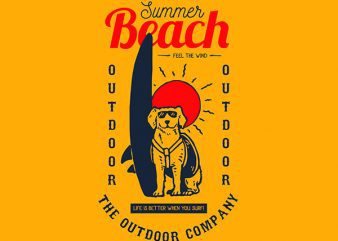 Dog Surf Vector t-shirt design