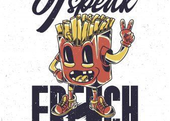 I speak french. Vector T-Shirt Design
