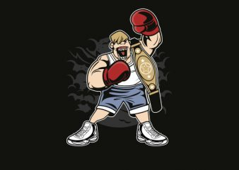 Fat Boxer Graphic t-shirt design