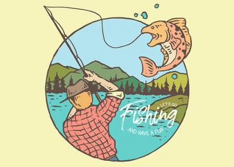 Fishing Vector t-shirt design