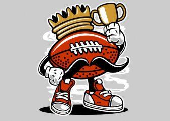 Football King Graphic t-shirt design