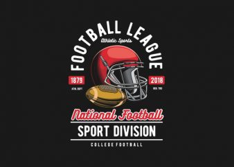 Football League Vector t-shirt design