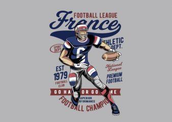 France Football Vector t-shirt design