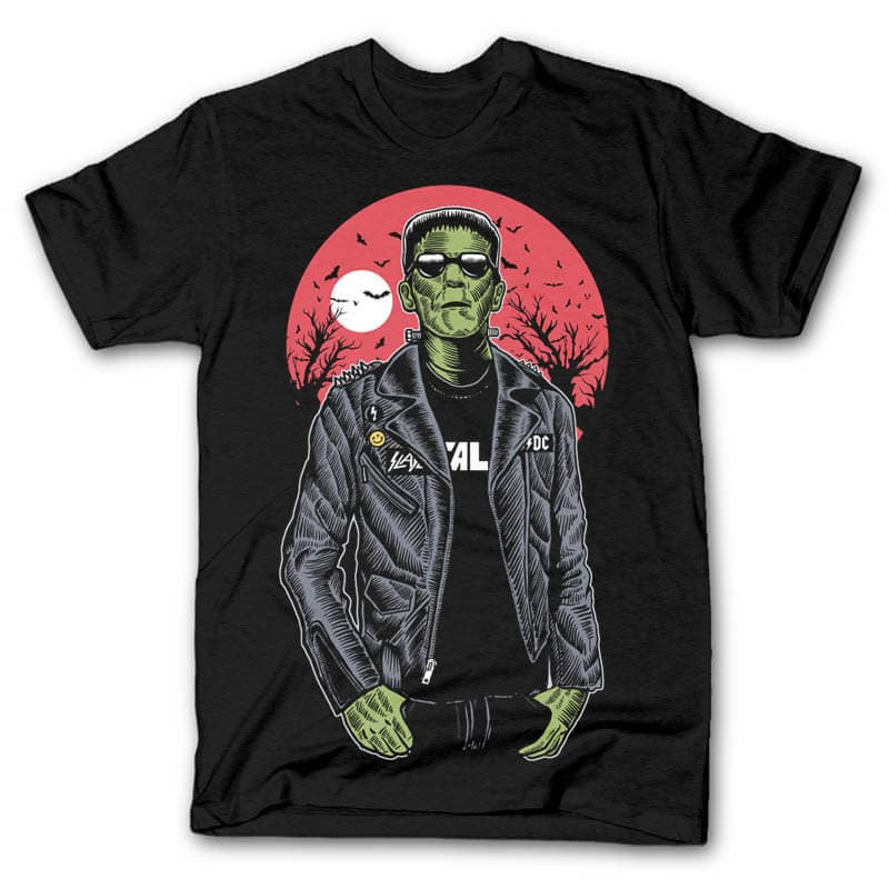 Frank Graphic t-shirt design t shirt designs for merch teespring and printful