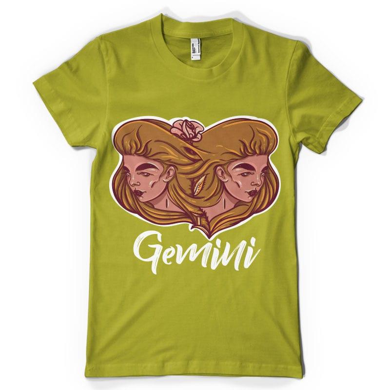 Gemini t shirt design png