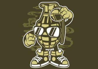 Grenade tshirt design
