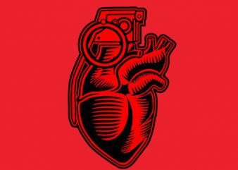 Grenade Heart Graphic t-shirt design