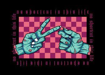 hand shake zombie , streetwear graphic t shirt