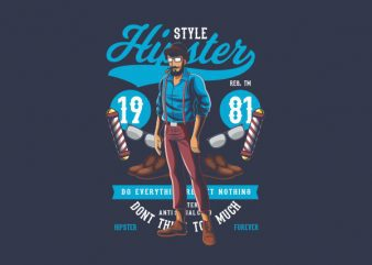 Hipster Graphic t-shirt design
