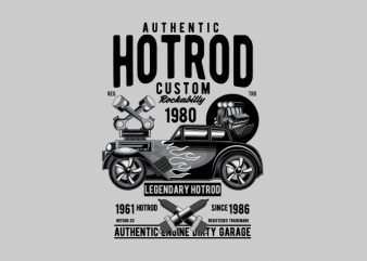 Hotrod Custom Vector t-shirt design