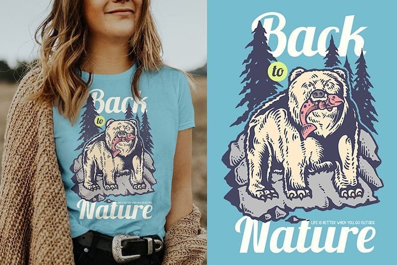 Hunting Bear Vector t-shirt design buy t shirt designs artwork