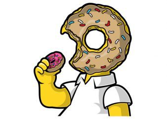 I Like Donut Graphic t-shirt design