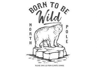 Ice Bear Graphic t-shirt design