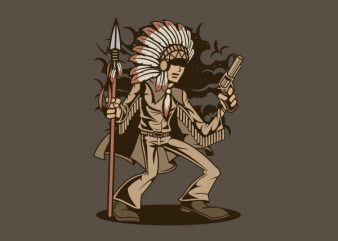 Indian Chief Killer Graphic t-shirt design