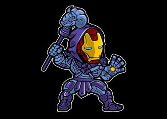 Iron Skeletor t shirt design png