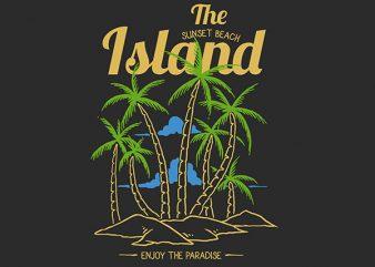Island Vector t-shirt design