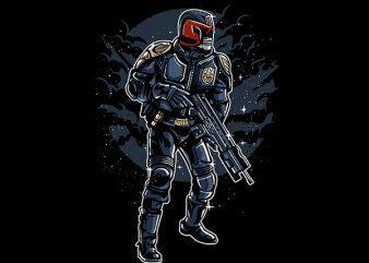 Judge Skull Vector t-shirt design