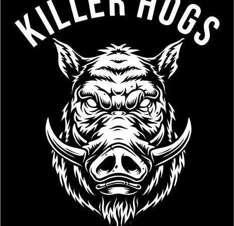 HOGS HEAD tshirt design