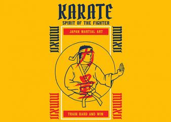 Karate Graphic t-shirt design