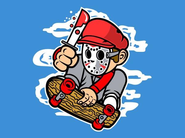 Killer Skater Graphic t-shirt design