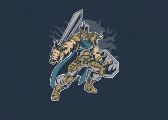 King of Battle Vector t-shirt design