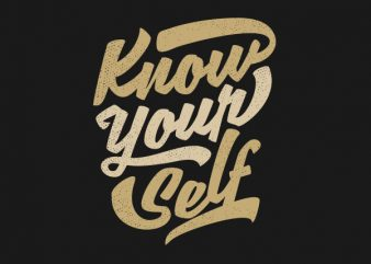 Know Yourself Vector t-shirt design