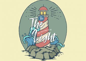 Light House Graphic t-shirt design