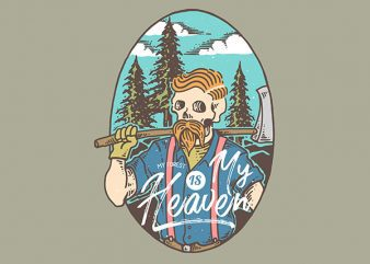 Lumberjack Heaven Vector t-shirt design