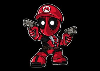 Mario Deadpool t shirt designs for sale